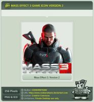 Mass Effect 3 Icon v2 by CODEONETEAM