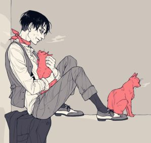 Levi ackerman x reader kittens by angelicmikasa on deviantart