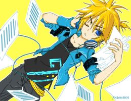 Kagamine Len colored lineart by Nihilumsss
