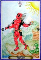 X-Men Tarot - Deadpool - The Fool by IAmABananaOo