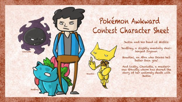 Pokemon Awkward Contest Character Sheet by jstn4all