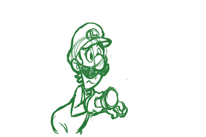 'Maaario!' - Luigi animation test by EarthGwee