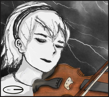 Rose: Play a Haunting Refrain on the Violin by ChrisC3Marie