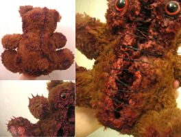(Details)Slashed and Stitched Scare Bear by OddandOddesss