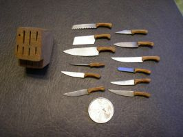 mini kitchen knives by shadowgoofyboy