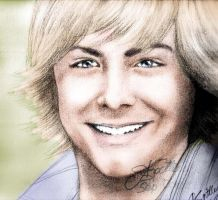 Zac Efron - coloured by AllieSpittles