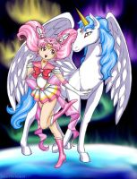 Sailor Moon : Rini and Pegasus by MustBeJewel
