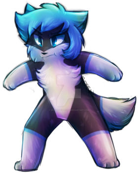 Grumpy Pup -Commish- by Spottedfire-cat
