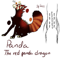 Panda, the red panda dragon by Plushy-Chu