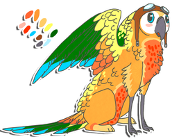 Sun Conure Griff for Sunut by Shroommu