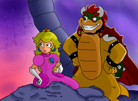 Peach Bowser Crossover by Natsuko-the-Mun