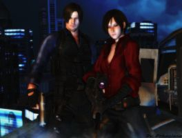 Resident evil wallpaper - Leon and Ada 3 by ethaclane
