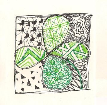 St. Paddy's Day Zentangle by m0rg3n