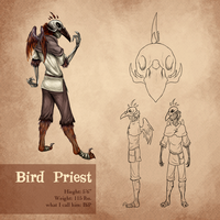 Aatr: Bird Priest by kitsune2022