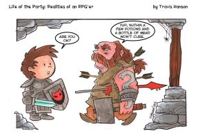 Just a flesh wound - RPG Comic by travisJhanson