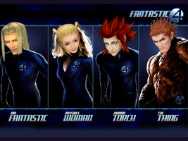 Kingdom Hearts - Fantastic 4 by Pikangie