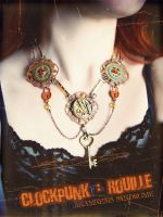 Clockpunk necklace Rusty one by Verope
