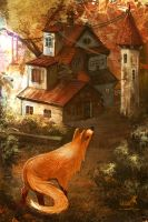 house in the autumn forest by LeksaArt