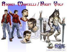 Night Wolf Character Design - Night Wolf by RAM-Horn