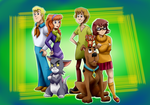 Tom and Jerry as part of Mystery Inc. by Riadorana