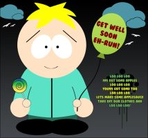 """Butters says """"Get Well Soon"""" by MoonxxxChild"""