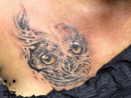Tattoo :: Owl by LilithDivine-Tattoo