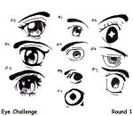 Eye Challenge Round One... by JiffyPeanutbutterGir