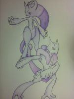 Mega Mewtwo X and Y by Adolessence