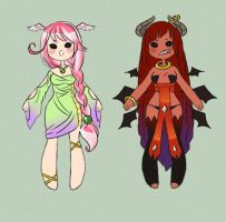 angel and devil adoptables [CLOSED] by faycoon