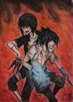 .::CRAZY UCHIHA BROTHERS::. by Stray-Ink92
