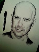Bruce Willis by IamLesFleurs