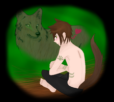 Kouga The Wolf-Man by angelofcryinghearts