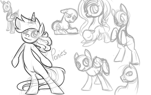 Assorted Pony Sketches by TheRebelPhoenix