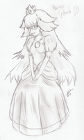 Princess Peach - Sketch by DizzieDoodles