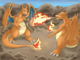 Charizard - Fire Fight by Vaporeon249