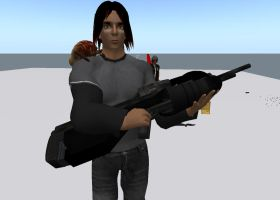 Second Life: Halo Battle Rifle by Broshang