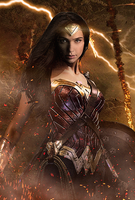 Wonder Woman poster textless by MessyPandas