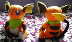 Jointed Raichu Plush by SmileAndLead