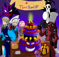 Everyone's here! ( SoulZero777's B-Day ) by ColorDrake