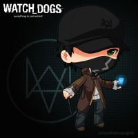 :Watch Dogs: Chibi Aiden Pearce by PrinceOfRedroses