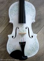 Violin Handpainted design 2 by Hollow-Moon-Art