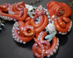 Orange and crabs Octopi by TinfoilHalo