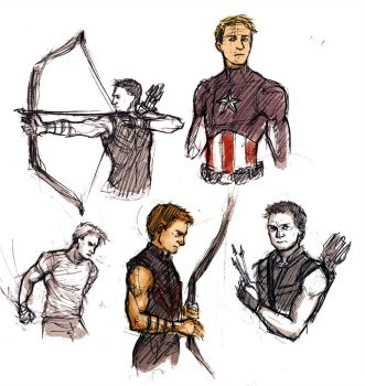 Avengers sketches by Anaeolist