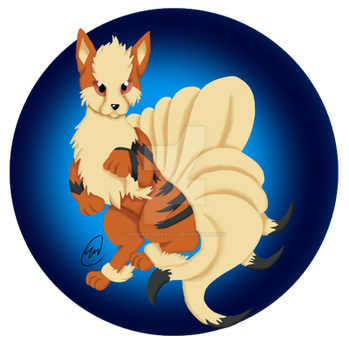 Arcanine +Ninetails Fusion by TriangleSeagull