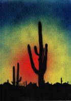Saguaro Sunset by Ali-Radicali