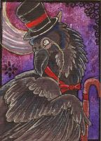 ACEO - The Raven by awaicu