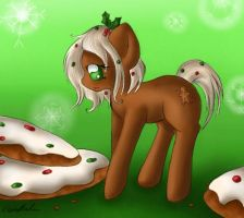 Gingerbread Cookie - Holiday Pony by SpectralPony