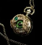 Petite - Green Forest Silver Pocket Watch by LadyPirotessa