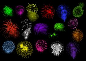 Brushes - Fireworks Set 3 by Immrgy