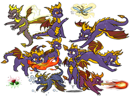 Spyro the Dragon by 8-Xenon-8